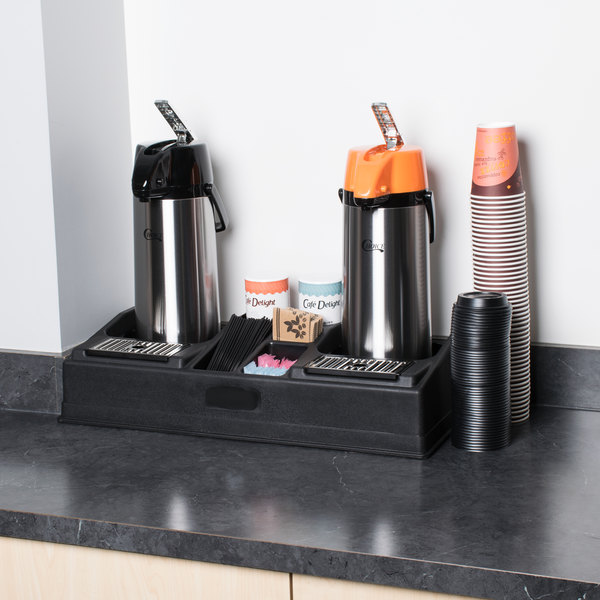 Double Airpot Station with Condiment Compartments