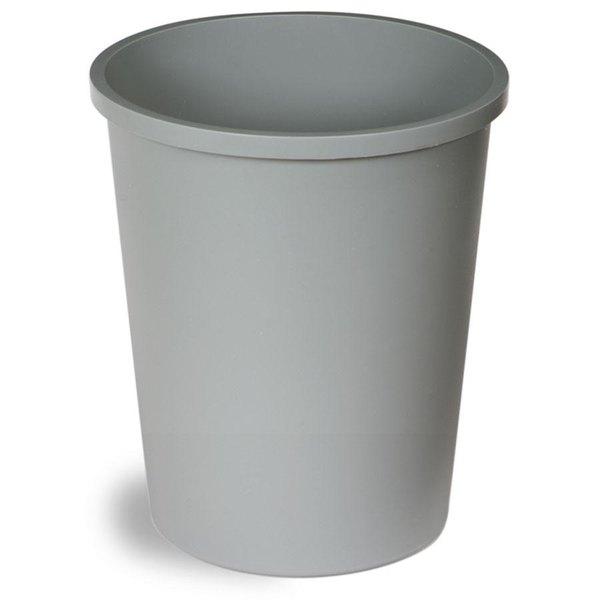 Continental 4438GY 44 Qt. Gray Round Wastebasket