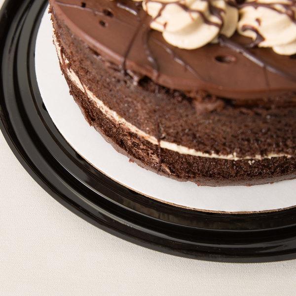 "9"" Corrugated Grease Proof White Cake Circle - 100/Case"