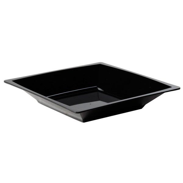 WNA Comet MSBWL12BK 12 oz. Black Square Milan Bowl  - 168/Case