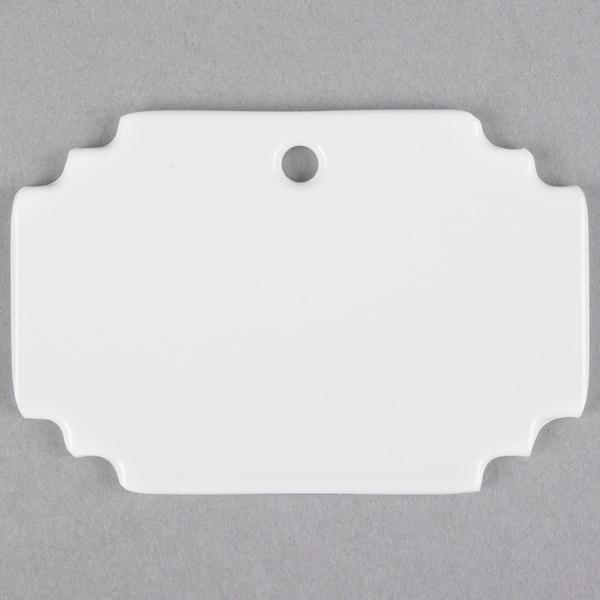 "Cal-Mil 3344-15SIGN White Write-On Menu Card - 4 1/2"" x 2"""