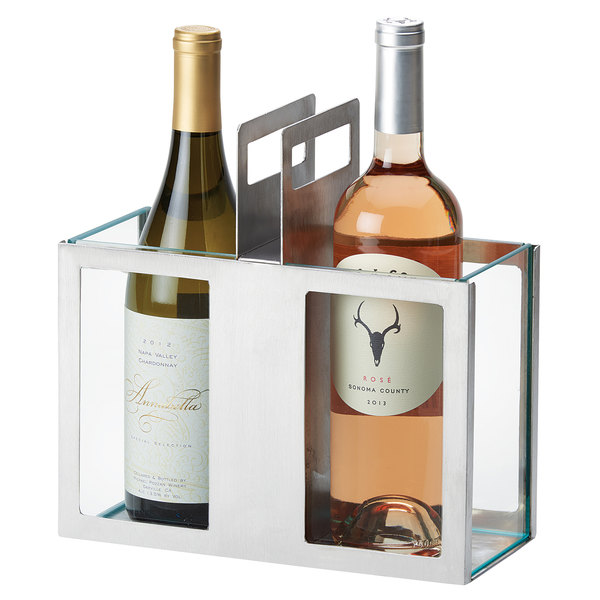 """Cal-Mil 3051-55 Stainless Steel Wine Chiller - 10 1/4"""" x 4 1/2"""" x 10"""""""