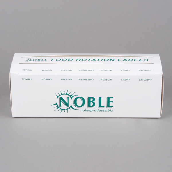 Noble Products 3/4 inch and 1 inch Day of the Week Label Dispenser Carton