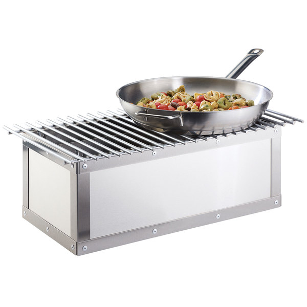 """Cal-Mil 3391-55 Urban Stainless Steel Chafer Alternative - 21 7/8"""" x 7 1/2"""" x 9 1/2"""""""
