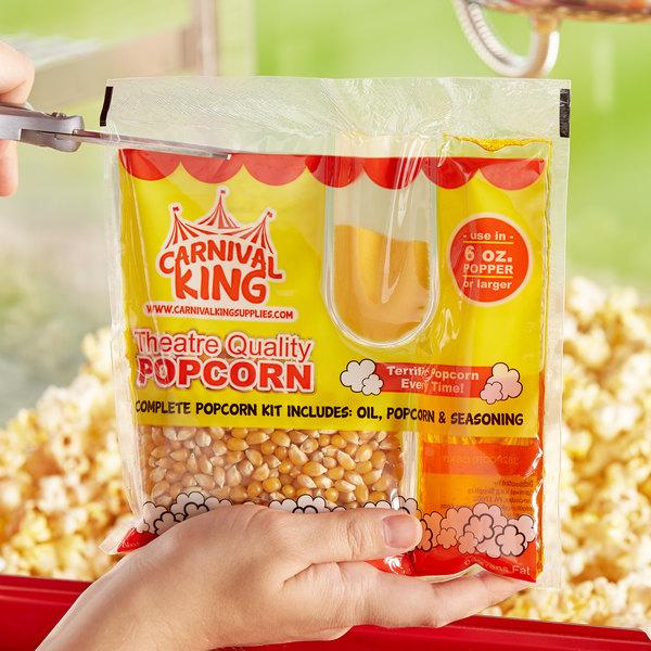 Carnival King All-In-One Popcorn Kit for 6 oz. Popper - 36/Case Main Image 4