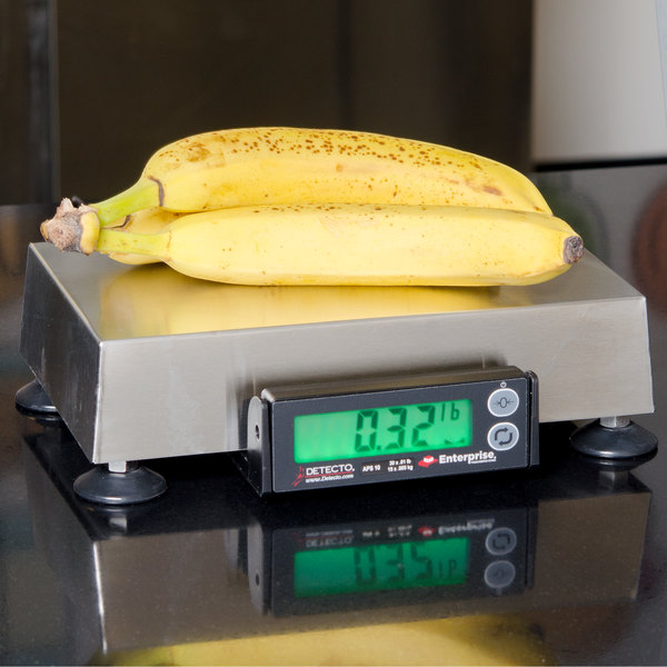 "Cardinal Detecto APS10 30 lb. Point of Sale Scale with 6"" x 10"" Platform, Legal for Trade Main Image 3"