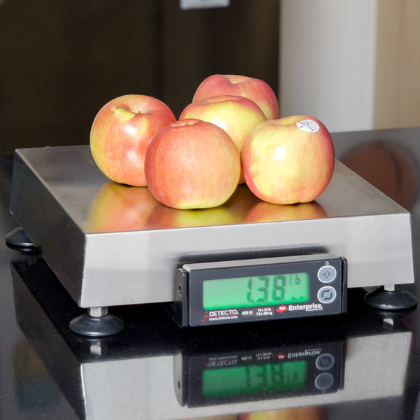 """Cardinal Detecto APS15 15 lb. Point of Sale Scale with 10"""" x 10"""" Platform, Legal for Trade"""