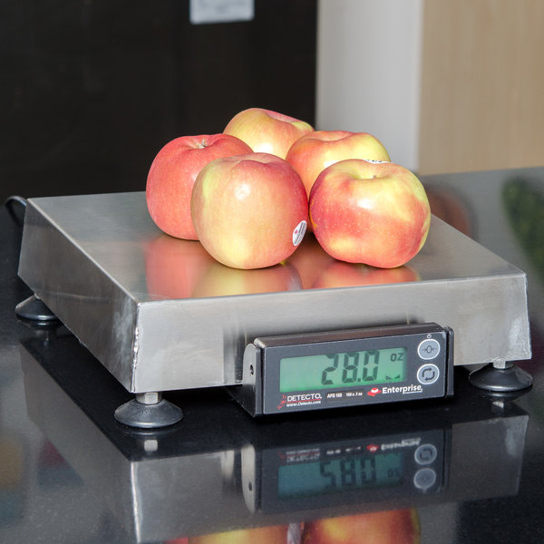 """Cardinal Detecto APS160 160 oz. Point of Sale Scale with 10"""" x 10"""" Platform, Legal for Trade"""