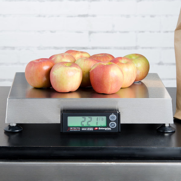 "Cardinal Detecto APS30 30 lb. Point of Sale Scale with 12"" x 14"" Platform, Legal for Trade"