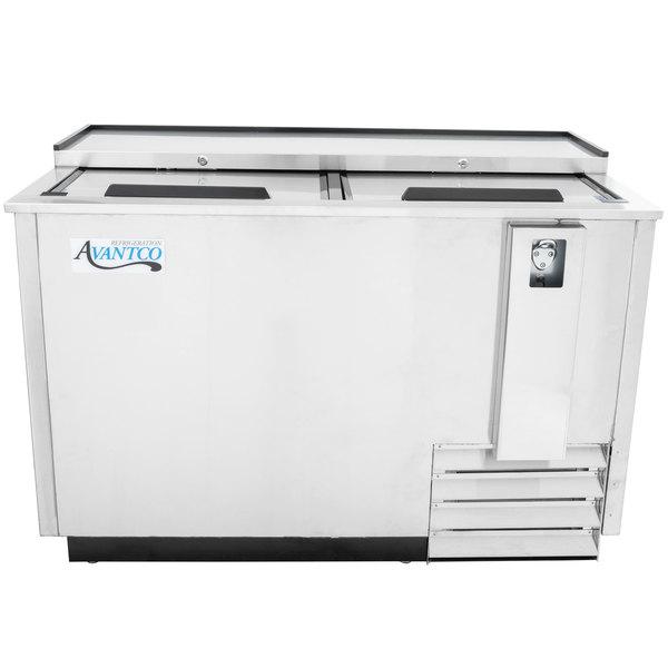 "Avantco JBC-50S 50"" Stainless Steel Commercial Horizontal Beer Bottle Cooler"