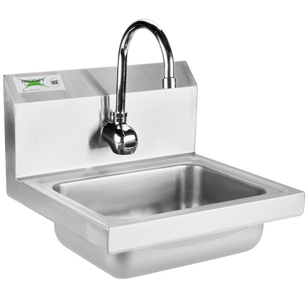 Regency 17 X 15 Wall Mounted Hand Sink With T S Hands Free Automatic Faucet
