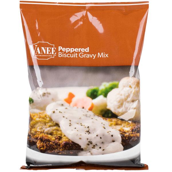 Vanee 1647 24 oz. Peppered Biscuit Gravy Mix