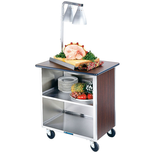 "Lakeside 646 Heavy-Duty Stainless Steel Three Shelf Enclosed Cart with Laminate Finish - 36"" x 22"" x 36 5/8"""