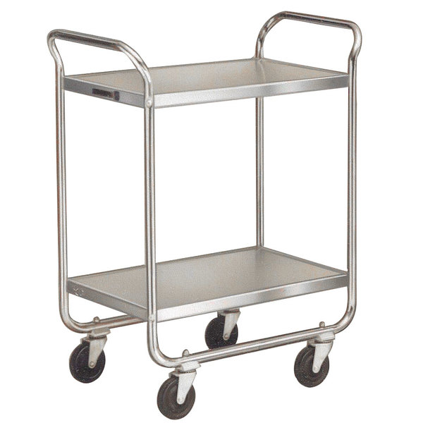 Lakeside 4938 Heavy-Duty Stainless Steel Two Shelf Handler Series Utility Cart - 33' x 19 3/4' x 46 3/4'