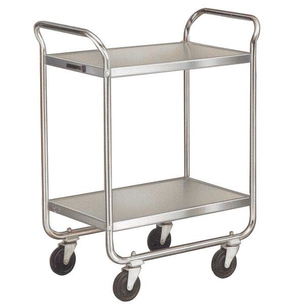 Lakeside 4938 Heavy-Duty Stainless Steel Two Shelf Handler Series Utility Cart - 33' x 19 3/4' x 46 3/4' Main Image 1