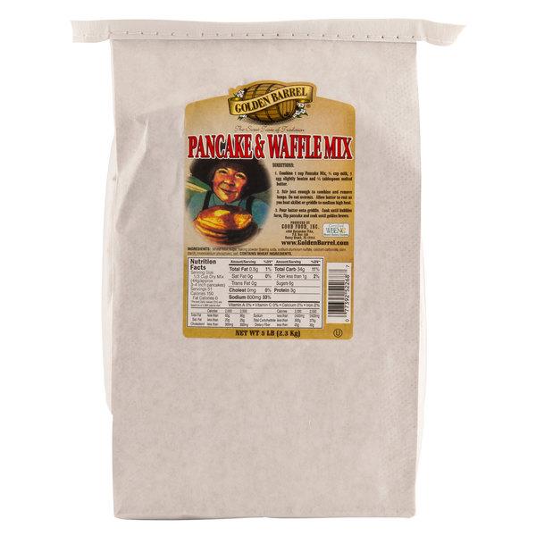 Golden Barrel 5 lb. Premium Pancake & Waffle Mix - 6/Case