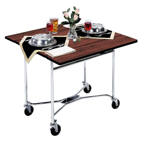 """Lakeside 413 Mobile Square Top Room Service Table with Red Maple Finish - 36"""" x 36"""" x 30"""""""