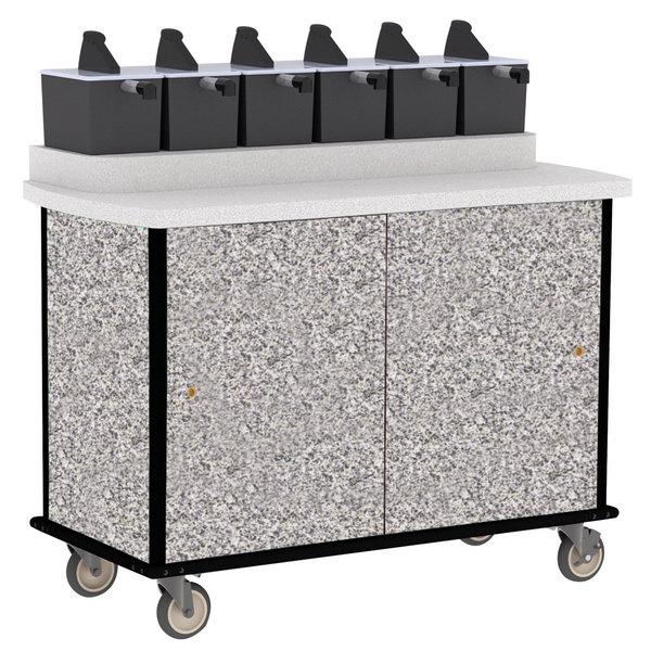 Lakeside 70520 Gray Sand Condi-Express 6 Pump Condiment Cart