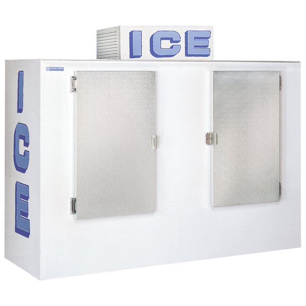 Polar Temp 1000AD Auto Defrost Outdoor Ice Merchandiser - 100 cu. ft.