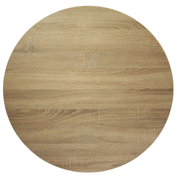 "BFM Seating SO45R Midtown 45"" Round Indoor Tabletop - Sawmill Oak Finish"