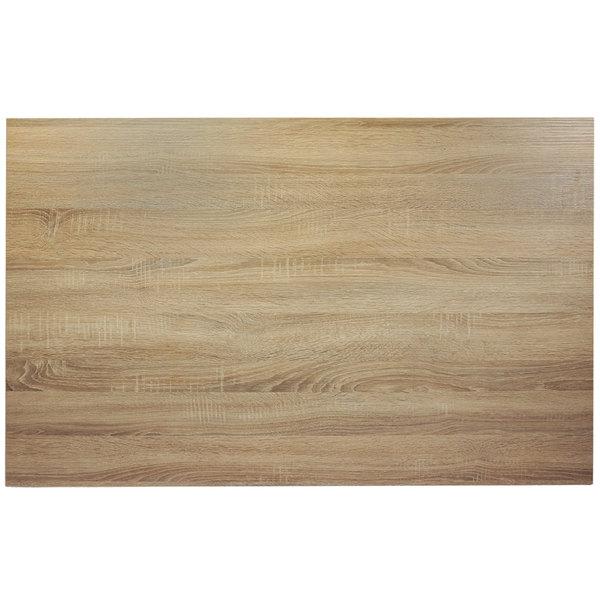 "BFM Seating SO3048 Midtown 30"" x 48"" Rectangular Indoor Tabletop - Sawmill Oak Finish"