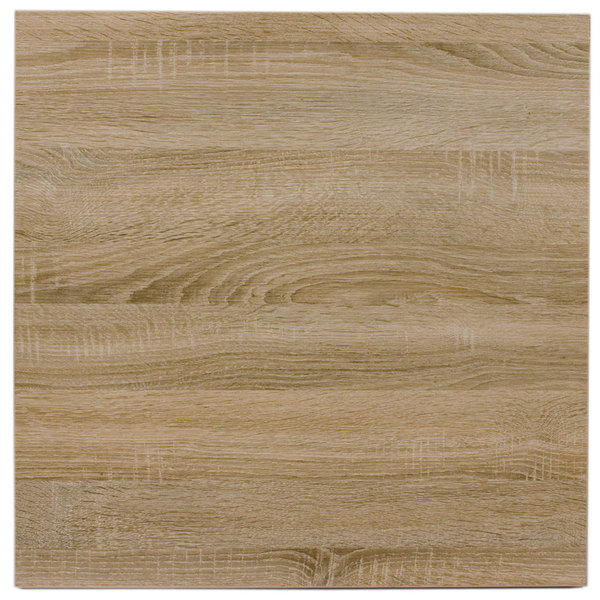 "BFM Seating SO2424 Midtown 24"" Square Indoor Tabletop - Sawmill Oak Finish Main Image 1"