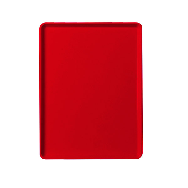 """Cambro 1220D510 12"""" x 20"""" Signal Red Dietary Tray - 12/Case"""