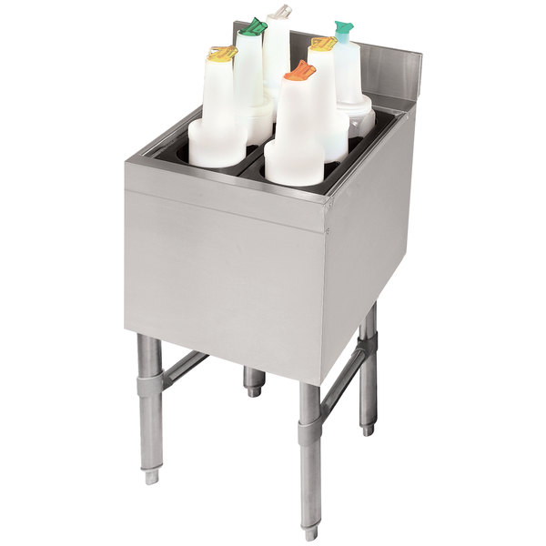 "Advance Tabco CRI-12-12 Stainless Steel Underbar Ice Bin - 12"" x 21"""