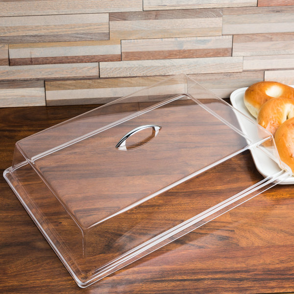 "Cal-Mil 327-13 Clear Standard Rectangular Bakery Tray Cover - 13"" x 18"" x 4"""