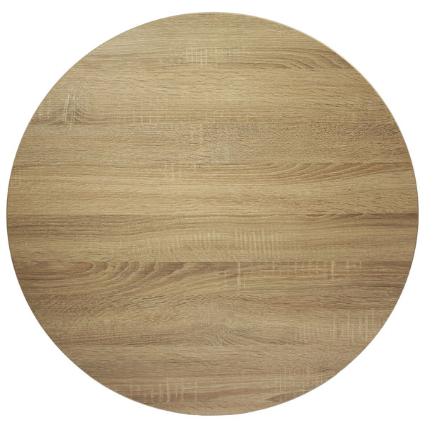 """BFM Seating SO30R Midtown 30"""" Round Indoor Tabletop - Sawmill Oak Finish"""