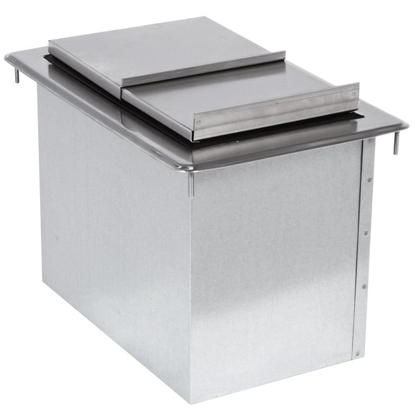 "Advance Tabco D-24-IBL-7 Stainless Steel Drop-In Ice Bin with 7-Circuit Cold Plate - 21"" x 18"""