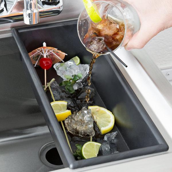 Bar Maid Black Plastic Bar Drain Tray Main Image 5