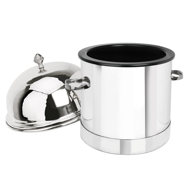 Eastern Tabletop 7001 3 Gallon Stainless Steel Insulated Single Ice Cream Unit with Dome Lid Main Image 1