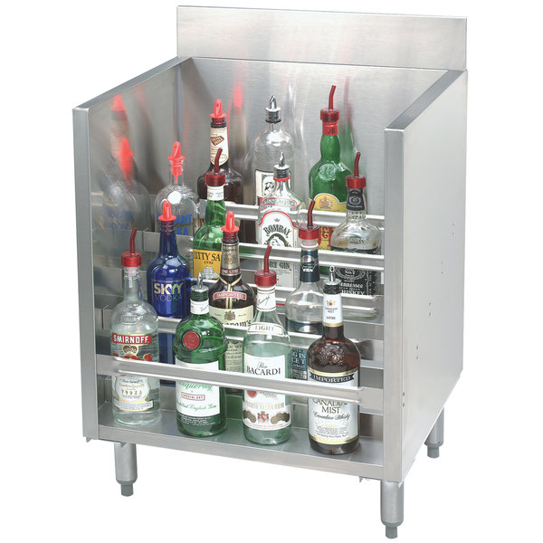 "Advance Tabco CRLR-24 Stainless Steel Liquor Display Cabinet - 24"" x 21"" Main Image 1"