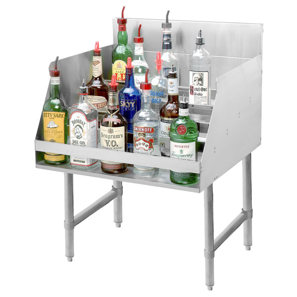 "Advance Tabco LD-1812 Stainless Steel Liquor Display Rack - 12"" x 23"" Main Image 2"