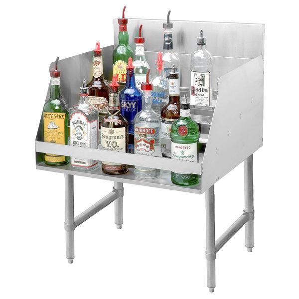 "Advance Tabco LD-1824 Stainless Steel Liquor Display Rack - 24"" x 23"""