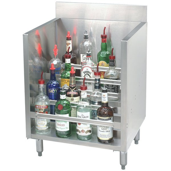 """Advance Tabco CRLR-18 Stainless Steel Liquor Display Cabinet - 18"""" x 21"""""""