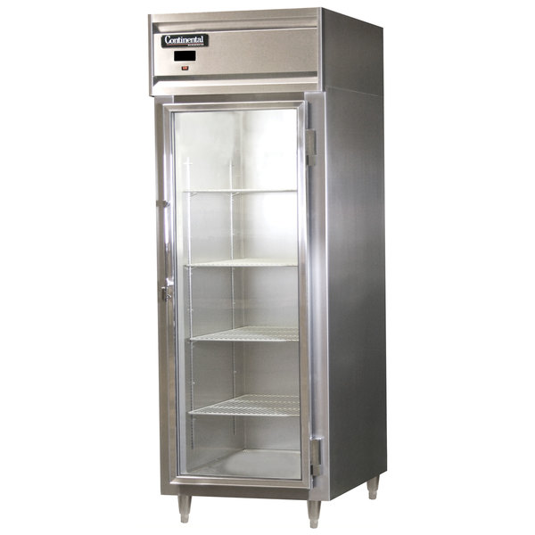 "Continental Refrigerator D1RENSSGD Designer Line 28 1/2"" Glass Door Extra-Wide Reach-In Refrigerator Main Image 1"