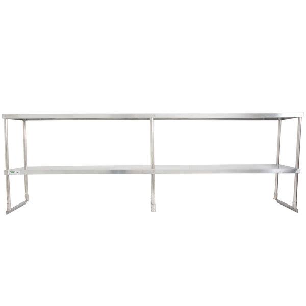 "Regency Stainless Steel Double Deck Overshelf - 12"" x 96"" x 32"""