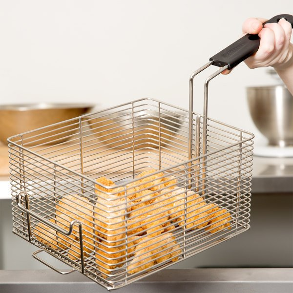 """Vollrath FFB2250 9"""" x 8"""" x 5"""" Large Fryer Basket with Front Hook"""