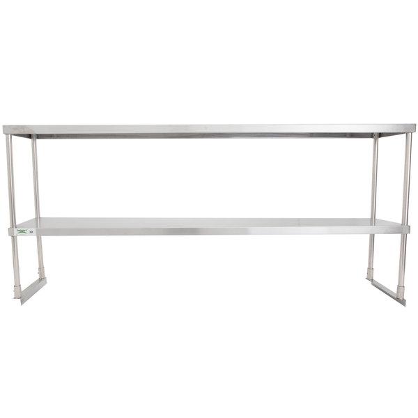 "Regency Stainless Steel Double Deck Overshelf - 12"" x 72"" x 32"""