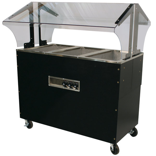 Advance Tabco B3-120-B-SB Three Pan Everyday Buffet Hot Food Table with Enclosed Base - Open Well, 120V Main Image 1