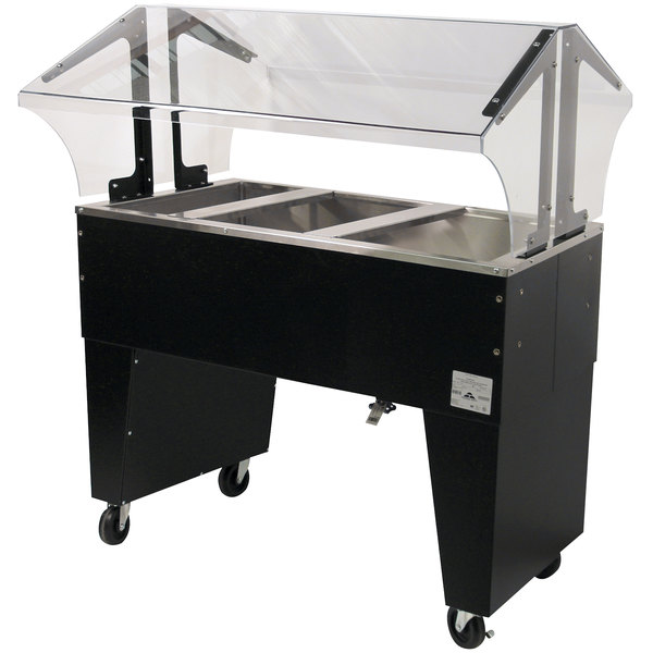 Advance Tabco B3-CPU-B Three Well Everyday Buffet Ice-Cooled Table with Open Base - Open Well Main Image 1