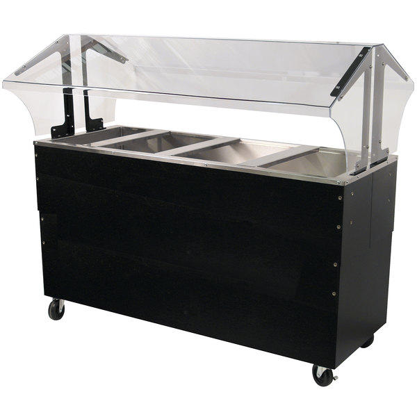 Advance Tabco B4-CPU-B-SB Four Well Everyday Buffet Ice-Cooled Table with Enclosed Base - Open Well Main Image 1