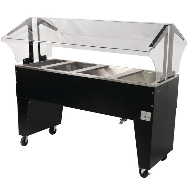 Advance Tabco B4-CPU-B Four Well Everyday Buffet Ice-Cooled Table with Open Base - Open Well