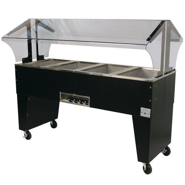 Advance Tabco B4-240-B Four Pan Everyday Buffet Hot Food Table with Open Base - Open Well, 208/240V