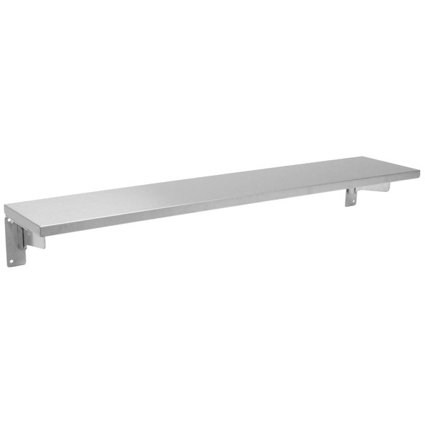 "Advance Tabco TTS-4D Stainless Steel Solid Tray Slide with Drop-Down Brackets - 62 3/8"" x 10"""