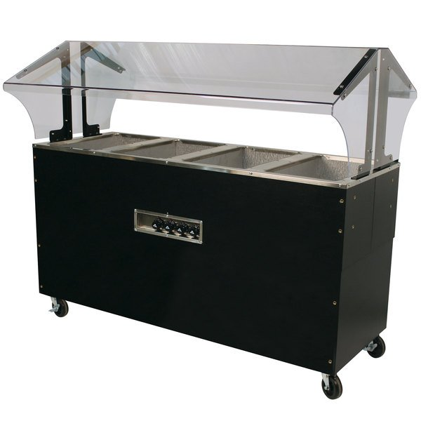 Advance Tabco B4-240-B-SB Four Pan Everyday Buffet Hot Food Table with Enclosed Base - Open Well, 208/240V Main Image 1