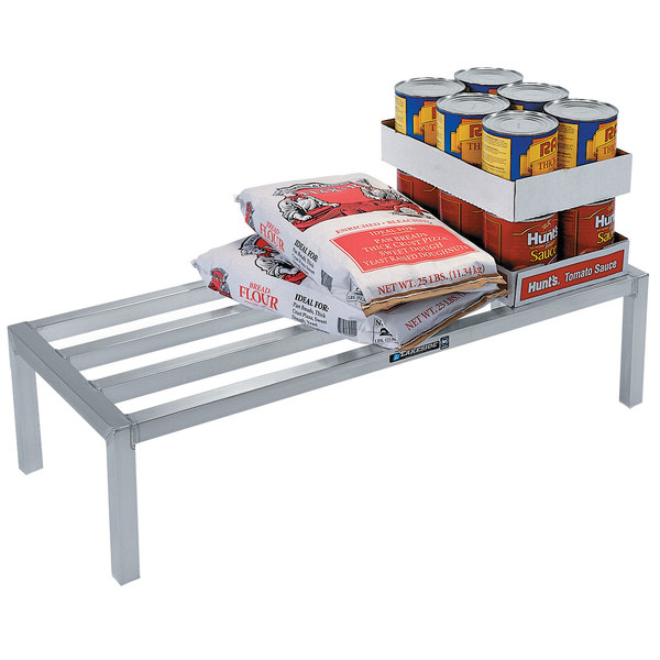 "Lakeside 9172 24"" x 60"" x 8"" Aluminum Dunnage Rack - 1500 lb. Capacity Main Image 1"