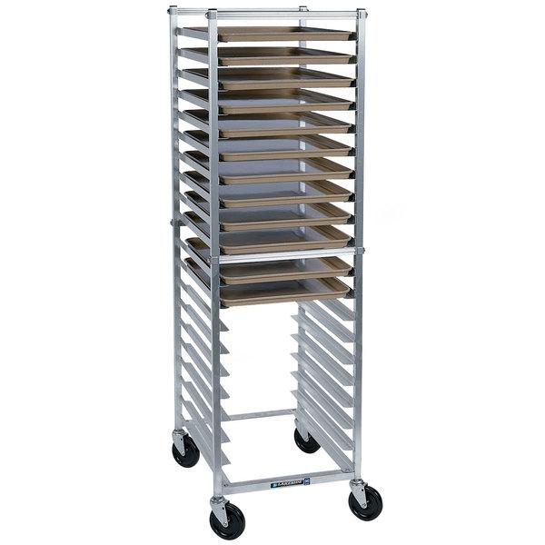 Lakeside 8568 12 Pan End Load Aluminum Bun / Sheet Pan Rack - Assembled Main Image 1